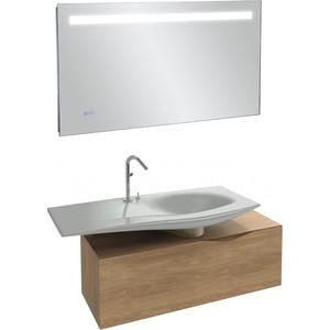 Мебель для ванной Jacob Delafon Stillness 120 натуральный дуб, смещенная раковина