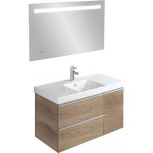 Мебель для ванной Jacob Delafon Odeon Up 105 квебекский дуб, 2 ящика, 1 дверка фото