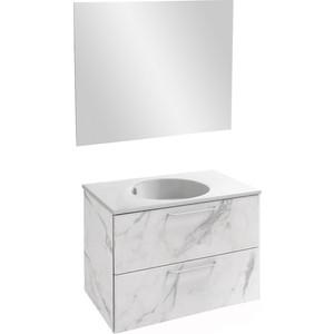 Мебель для ванной Jacob Delafon Odeon Rive Gauche 80 белый мрамор
