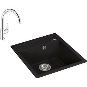 Кухонная мойка и смеситель Florentina Липси 460 Grohe BauFlow (20.280.B0460.302, 31230000)