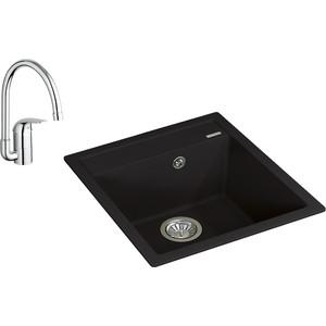 Кухонная мойка и смеситель Florentina Липси 460 Grohe Euroeco (20.280.B0460.302, 32752000)