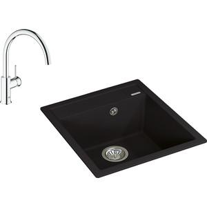 Кухонная мойка и смеситель Florentina Липси 460 Grohe BauClassic (20.280.B0460.302, 31234000)