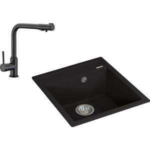 Кухонная мойка и смеситель Florentina Липси 460 Kaiser Teka под фильтр (20.280.B0460.302, 13044-9)