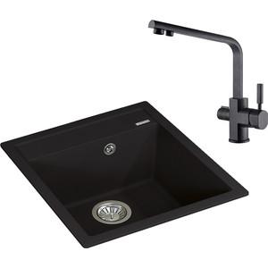 Кухонная мойка и смеситель Florentina Липси 460 Kaiser Decor под фильтр (20.280.B0460.302, 40144-2) вытяжка krona steel irida 600 black sensor