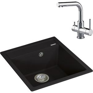 Кухонная мойка и смеситель Florentina Липси 460 Lemark Comfort (20.280.B0460.302, LM3061C)
