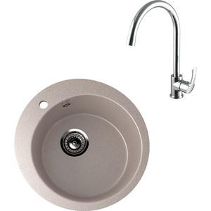 Кухонная мойка и смеситель Ulgran U-405 Lemark Plus Strike (U-405-302, LM1105C) кухонная мойка и смеситель ulgran u 405 grohe bauloop u 405 302 31368000