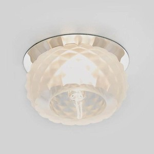 Встраиваемый светильник Ambrella light D7323 W/CH встраиваемый светодиодный светильник ambrella light s305 ch w