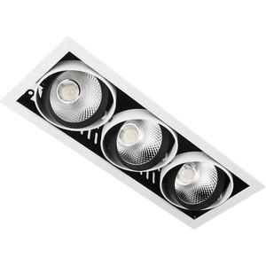 Встраиваемый светодиодный светильник Ambrella light T813 BK/CH 3*12W 4200K встраиваемый светодиодный светильник elektrostandard dlr006 12w 4200k ps n 4690389084782