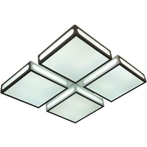 цены Потолочный светодиодный светильник Ambrella light FS1888 WH/SD 144W 4200K D520*520