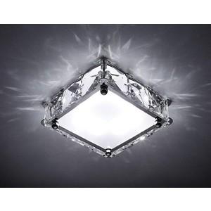 Встраиваемый светодиодный светильник Ambrella light S50 CH/W 4W 4200K LED лампочка ambrella light точка 8w gu5 3 4200k холодный свет 8 вт светодиодная