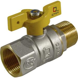 Кран шаровый СТМ для газа 1 гайка/штуцер, бабочка (CGFMB001)