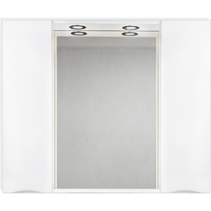 Зеркальный шкаф BelBagno Marino с подсветкой, белый (MARINO-SPC-1000/750-2A-BL-P)