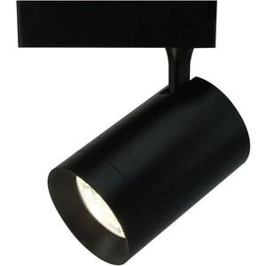 Трековый светодиодный светильник Artelamp A1730PL-1BK slv трековый светильник slv helia 152961