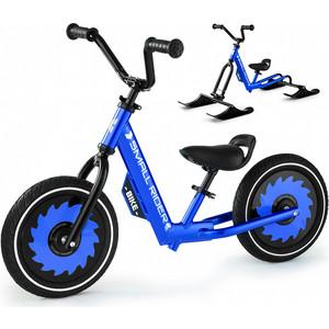 Беговел с лыжами и колесами Small Rider Roadster - X Combo (синий)