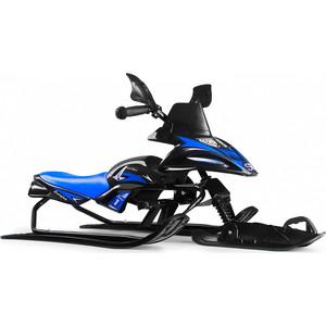 Снегокат снегоход Small Rider Scorpion SOLO, одна лыжа спереди (черный с синим)