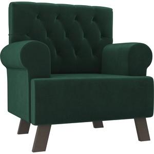 Кресло АртМебель Хилтон велюр зеленый