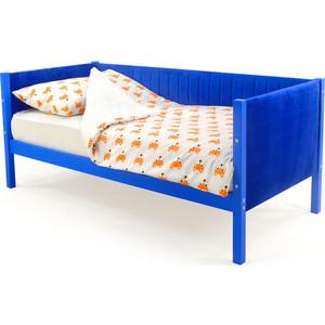Детская кровать-тахта мягкая Бельмарко Skogen синий
