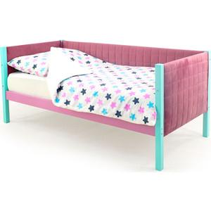 Детская кровать-тахта мягкая Бельмарко Skogen мятный-лаванда