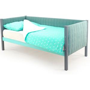 Детская кровать-тахта мягкая Бельмарко Skogen графит-мятный