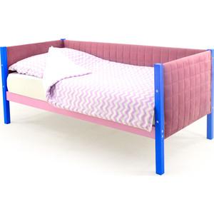 Детская кровать-тахта мягкая Бельмарко Skogen синий-лаванда
