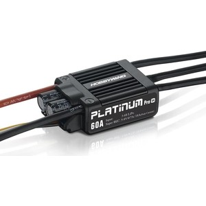 Бесколлекторный регулятор HobbyWing Platinum LV 60A V4 для авиа моделей - HW-PLATINUM-60A-V4 free shipping hobbywing 3 in 1 professional program box for platinum series esc