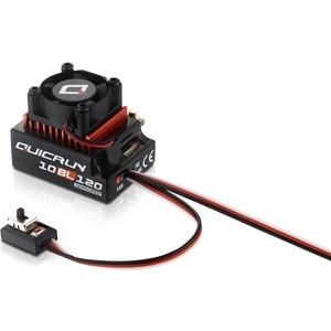 Бесколлекторный сенсорный регулятор HobbyWing QuicRun-10BL120 для автомоделей масштаба 1/10 красный - HW-QuicRun-10BL120