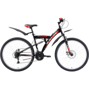 Велосипед Black One Flash FS 27.5 D (2019) чёрный/красный/белый 18(2019)