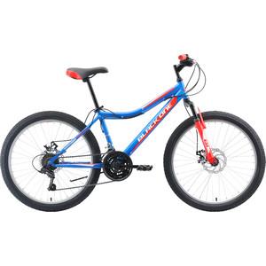 Велосипед Black One Ice 24 D голубой/красный/серебристый
