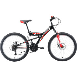 Велосипед Black One Ice FS 24 D чёрный/красный/белый