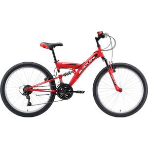 Велосипед Black One Ice FS 24 красный/белый/чёрный