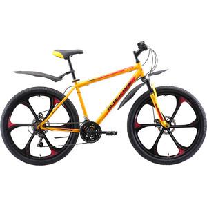 Велосипед Black One Onix 26 D FW (2019) жёлтый/чёрный/красный 18
