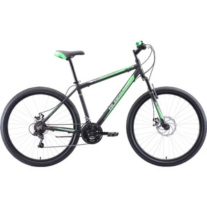 Велосипед Black One Onix 27.5 D Alloy чёрный/зелёный/серый 16