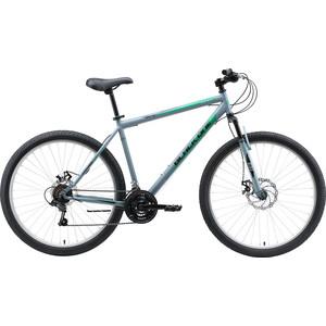 Велосипед Black One Onix 27.5 D серый/чёрный/зелёный 22