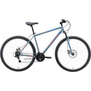 Велосипед Black One Onix 29 D (2020) серый/оранжевый/голубой 22