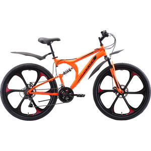 Велосипед Black One Totem FS 26 D FW неоновый оранжевый/красный/чёрный 16