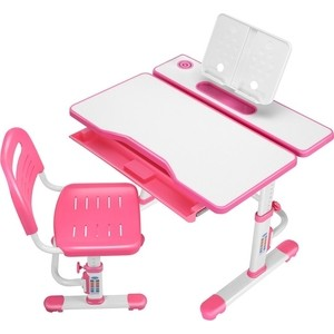 Комплект парта + стул трансформеры FunDesk Botero pink cubby