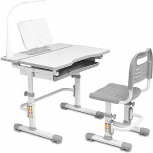 Комплект парта + стул трансформеры FunDesk Botero grey cubby