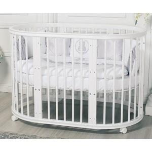Кроватка Incanto Estel EXCLUSIVE 8 в1 цвет Белый ST-0046/0