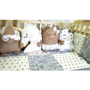 Комплект в кроватку Malika 4 пр. Animals кофейный