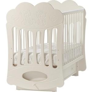 Кроватка Кубаньлесстрой Baby Sleep-1 маятник поперечный ваниль Д 043 БИ 43.2 Д043