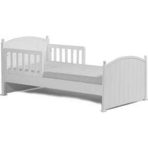Кроватка Кубаньлесстрой Олимпия 1600х800+комплект малого ограждения 00.3 белый БИ 82+00.3
