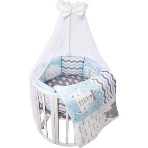 Комплект в кроватку универсальный Сдобина 17 пр BABY BOO BLUE поплин 100% хлопок 1392
