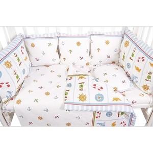 Бортик в кроватку Сонный Гномик 133-10 Маяк голубой