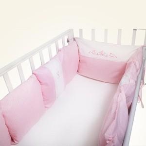 Бортик в кроватку Сонный Гномик 169-11/2 Прованс розовый универсальный (д/кругл и классич)