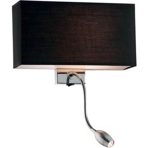 Настенный светильник Ideal Lux Hotel AP2 Nero уличный светильник ideal lux gun ap2 big nero e27