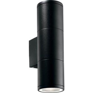 Уличный настенный светильник Ideal Lux Gun AP2 Small Nero