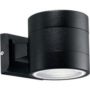 Уличный настенный светильник Ideal Lux Snif Round AP1 Nero