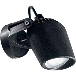 Уличный настенный светодиодный светильник Ideal Lux Minitommy AP1 Nero светодиодный спот ideal lux page ap1 square nero
