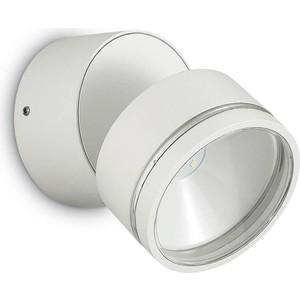 Уличный настенный светодиодный светильник Ideal Lux Omega Round AP1 Bianco настенный светодиодный светильник ideal lux vela ap1 alluminio