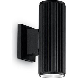 Уличный настенный светильник Ideal Lux Base AP2 Nero